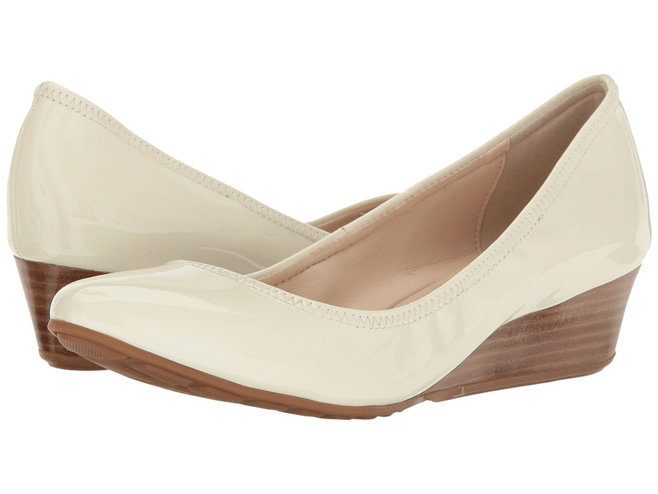 Cole Haan - Tali Luxe Wedge 40 (Ivory Patent) Women's Slip-on Dress Shoes