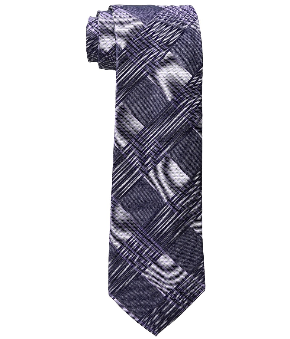 Calvin Klein - Schoolboy Maxi Windowpane (Purple) Ties