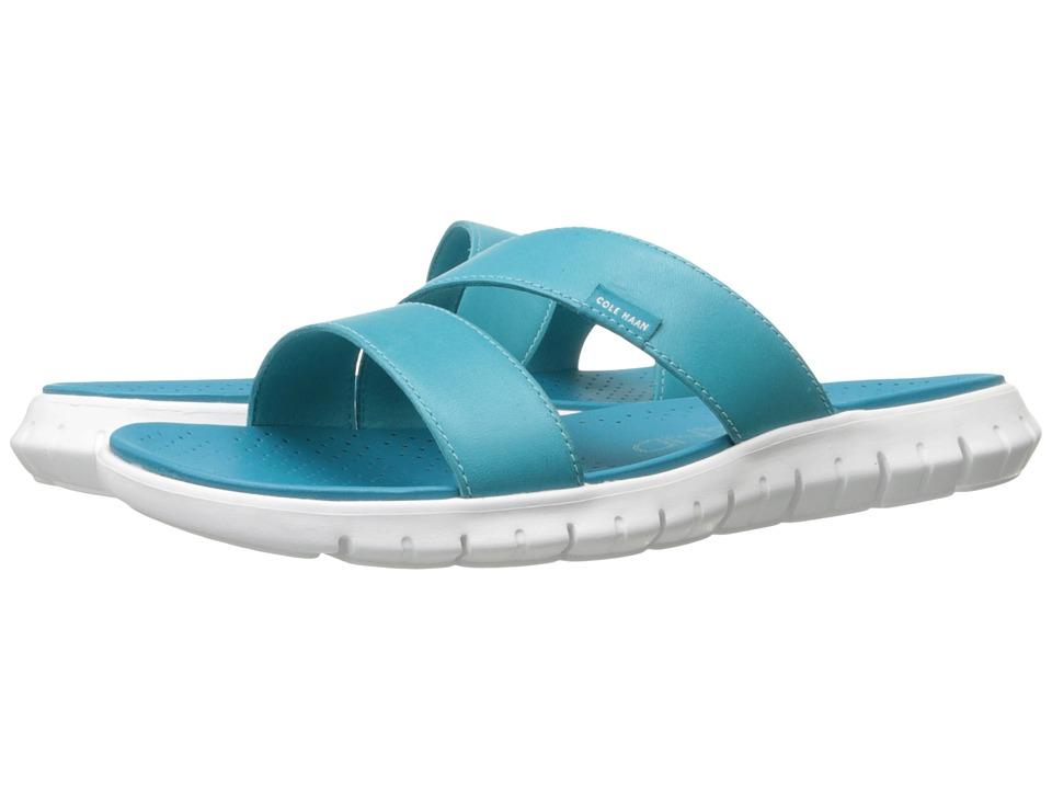 Cole Haan Zerogrand 2 Strap Sandal (Capri Breeze Leather/Optic White) Women