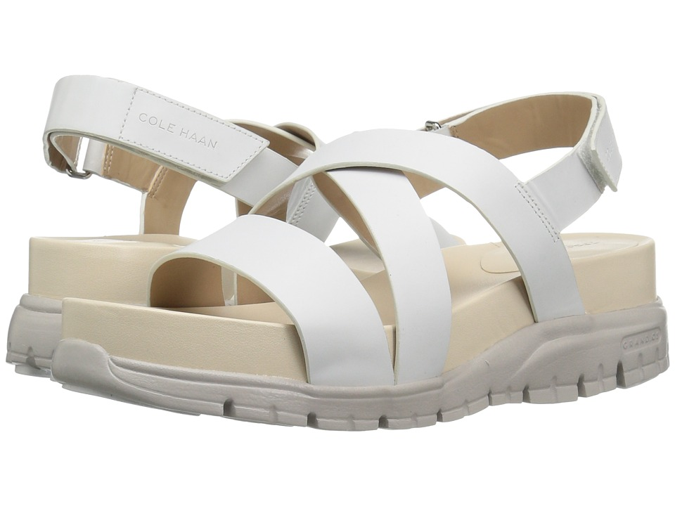 Cole Haan - Zerogrand Crisscross Sandal (Bds) (Optic White Leather/Vapor Grey) Women's Shoes