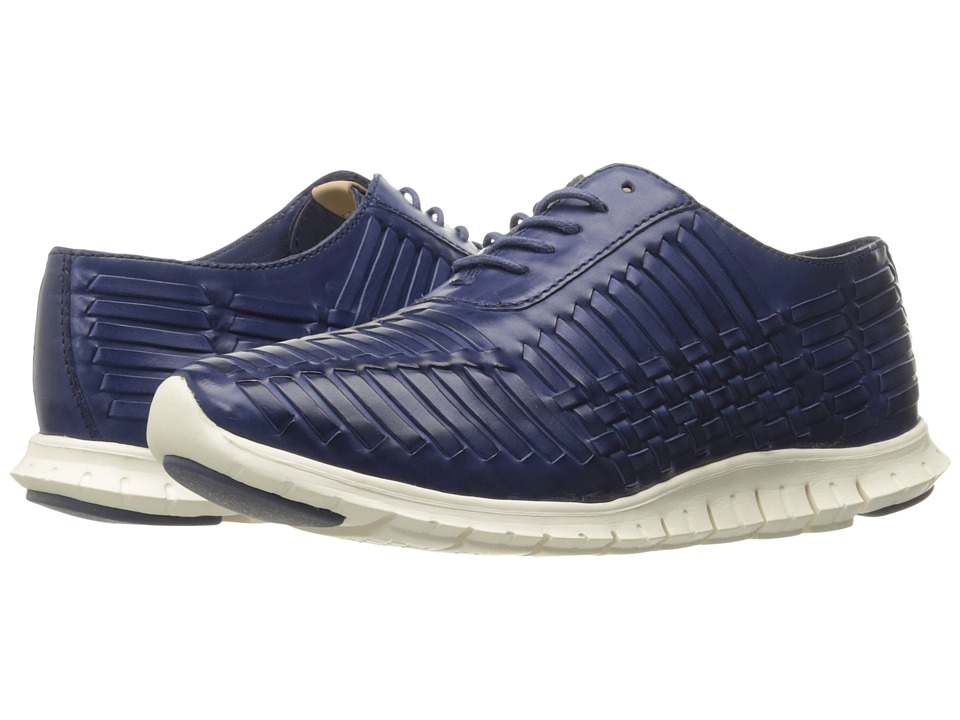 Cole Haan - Zerogrand Huarache Oxford (Washed Indigo Leather) Women's Lace up casual Shoes