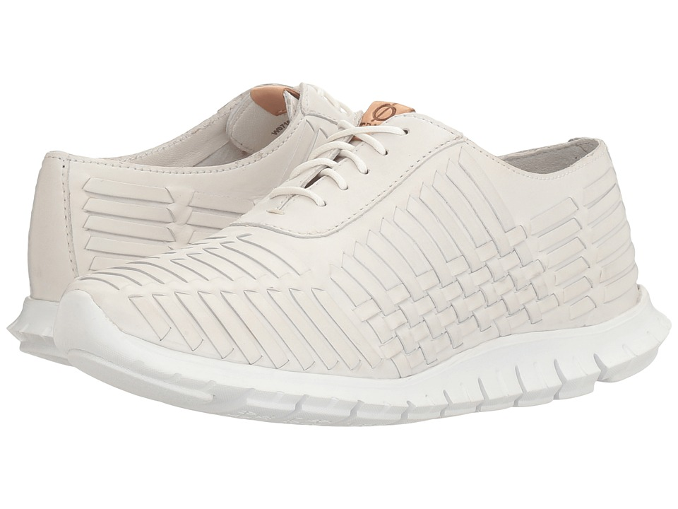Cole Haan - Zerogrand Huarache Oxford (Optic White Leather) Women's Lace up casual Shoes