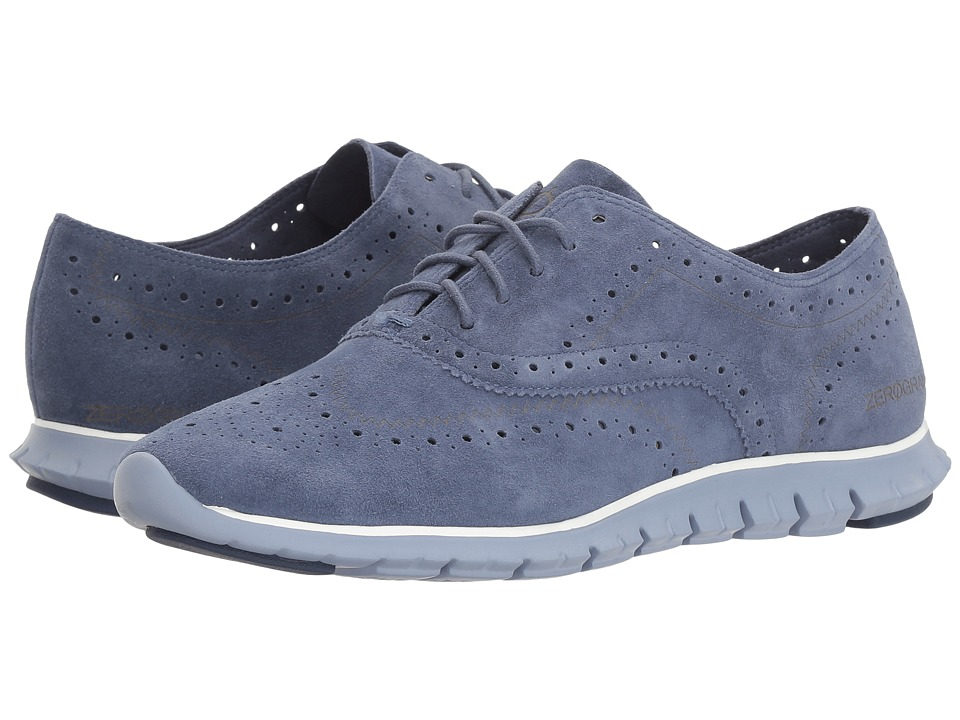 Cole Haan - Zerogrand Wing Ox Open Hole (Washed Indigo Open Hole Suede/Cornwall Blue) Women's Shoes