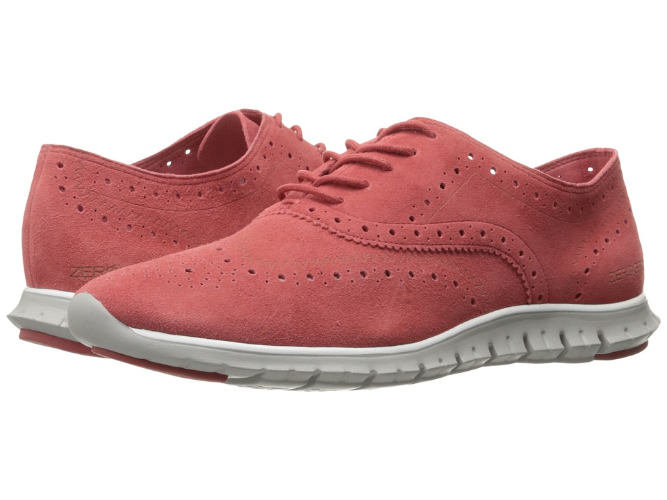 Cole Haan - Zerogrand Wing Ox Open Hole (New Mineral Red Open Hole Suede/Vapor Grey) Women's Shoes