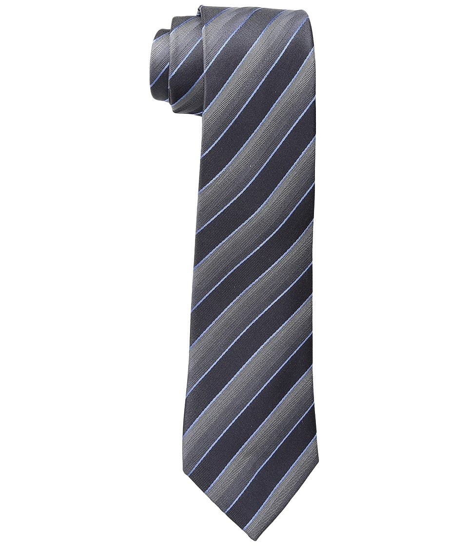 Kenneth Cole Reaction - Veloutine Stripe (Charcoal) Ties