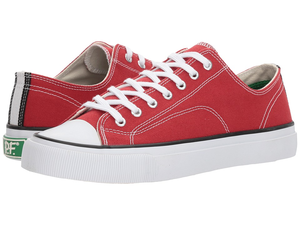 PF Flyers All American Lo (Red Canvas) Men's Lace up casual Shoes