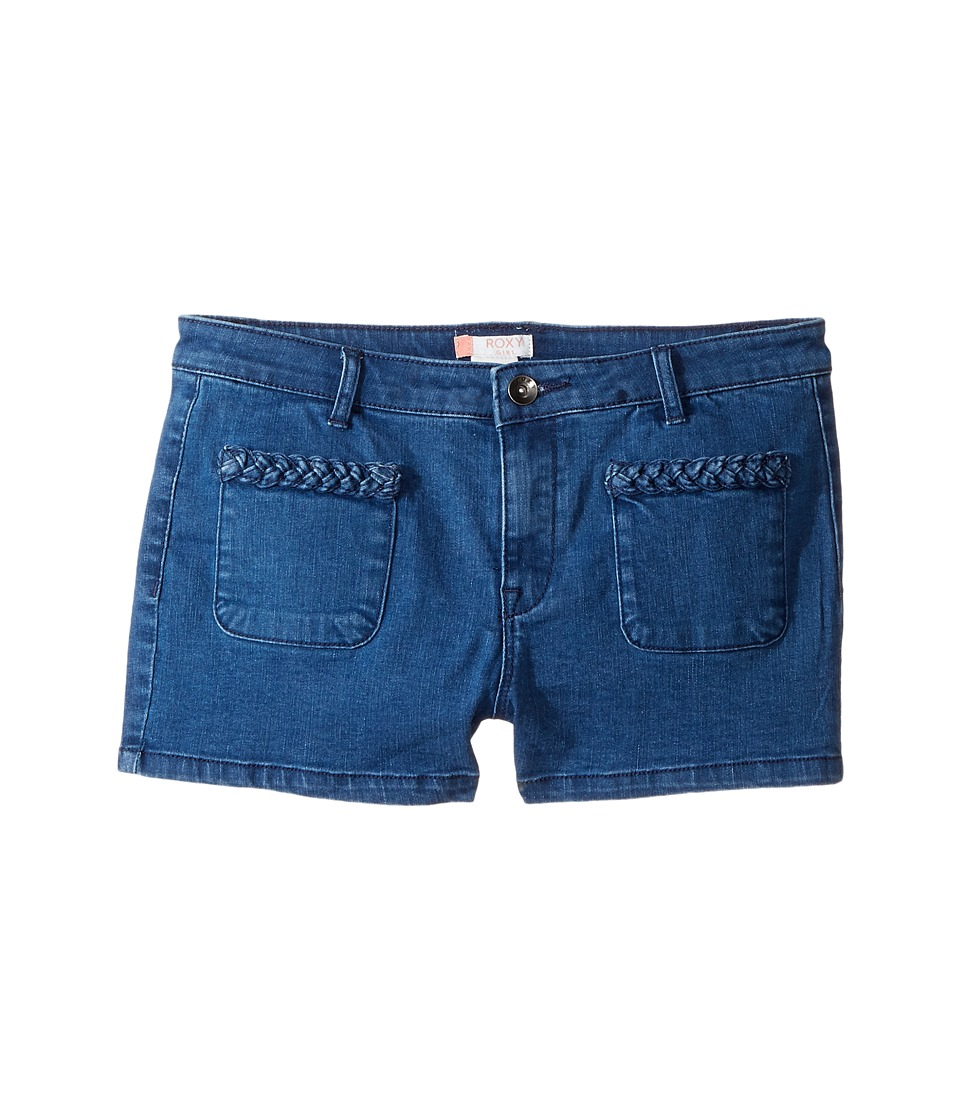 Roxy Kids - London Pics Shorts (Big Kids) (Medium Blue) Girl's Shorts