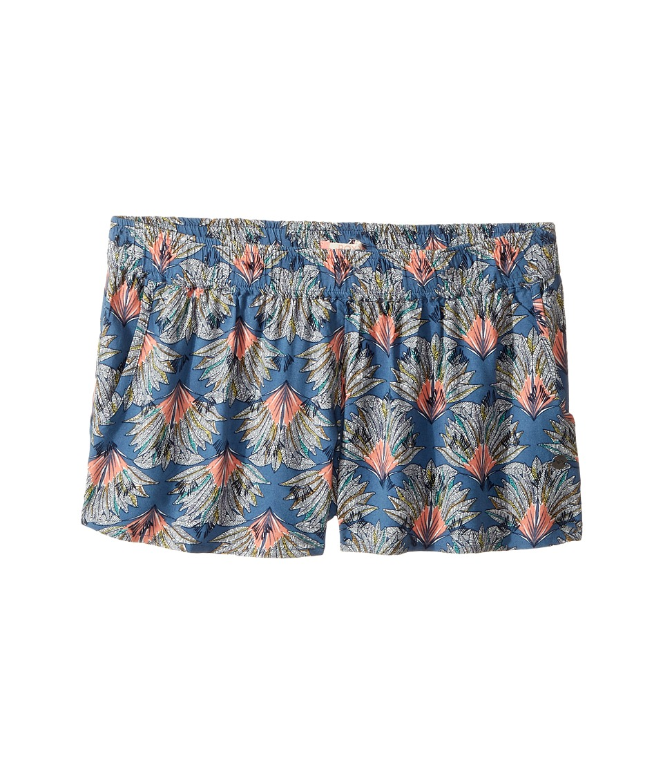 Roxy Kids - Something I Will Believe Shorts (Big Kids) (Captain's Blue Peacock Palm) Girl's Shorts