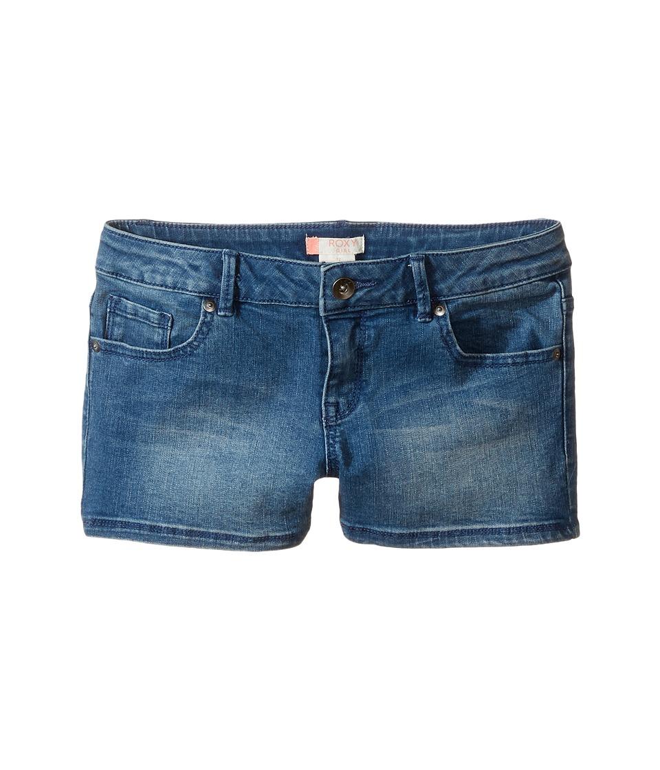 Roxy Kids - Shine Shine Like Sun Shorts (Big Kids) (Medium Blue) Girl's Shorts
