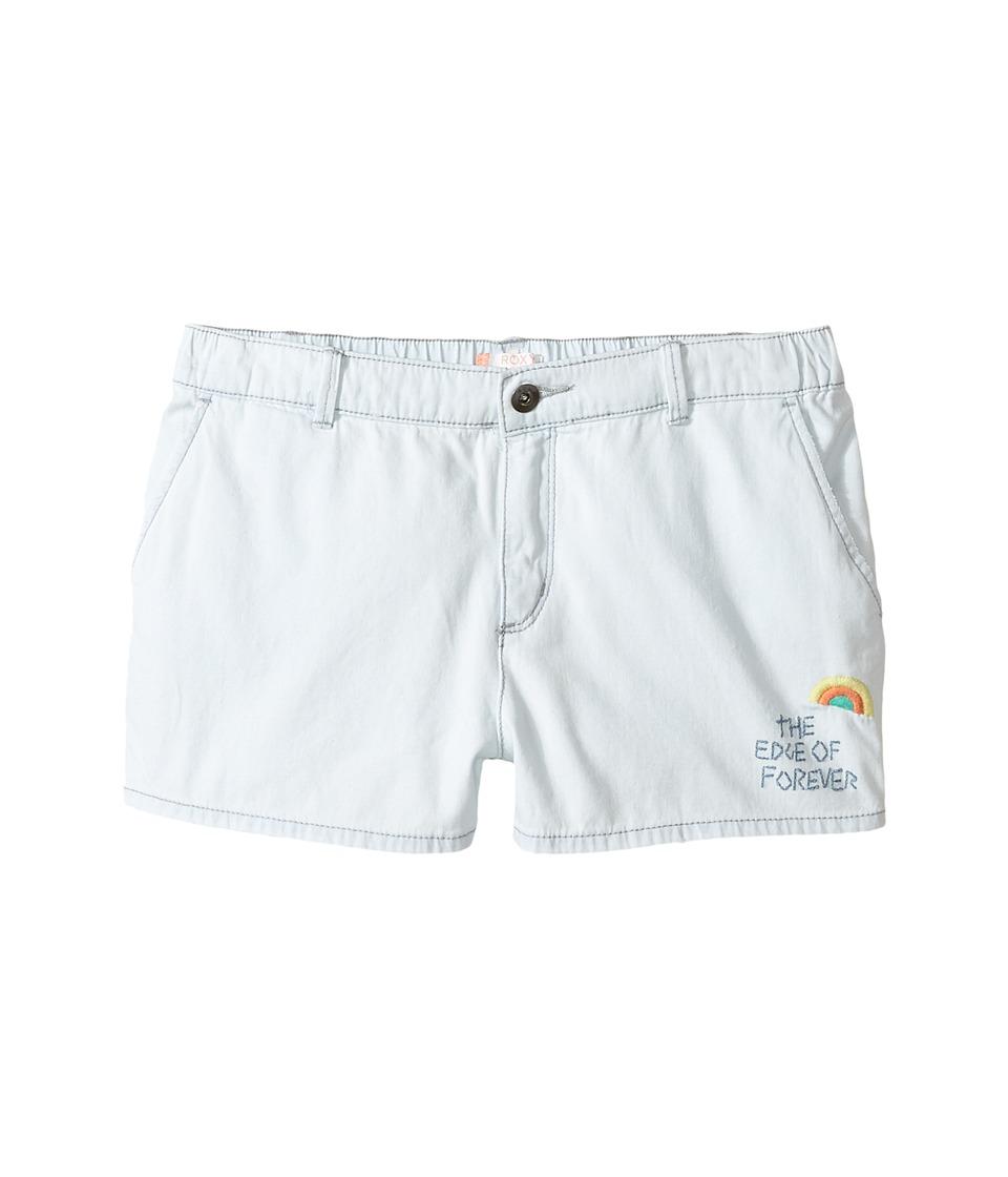 Roxy Kids - West Coast and U Shorts (Big Kids) (Bleached Blue) Girl's Shorts