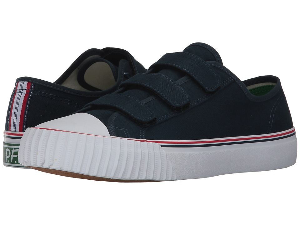 PF Flyers - Center Lo Hook and Loop (Navy Canvas) Men's Hook and Loop Shoes