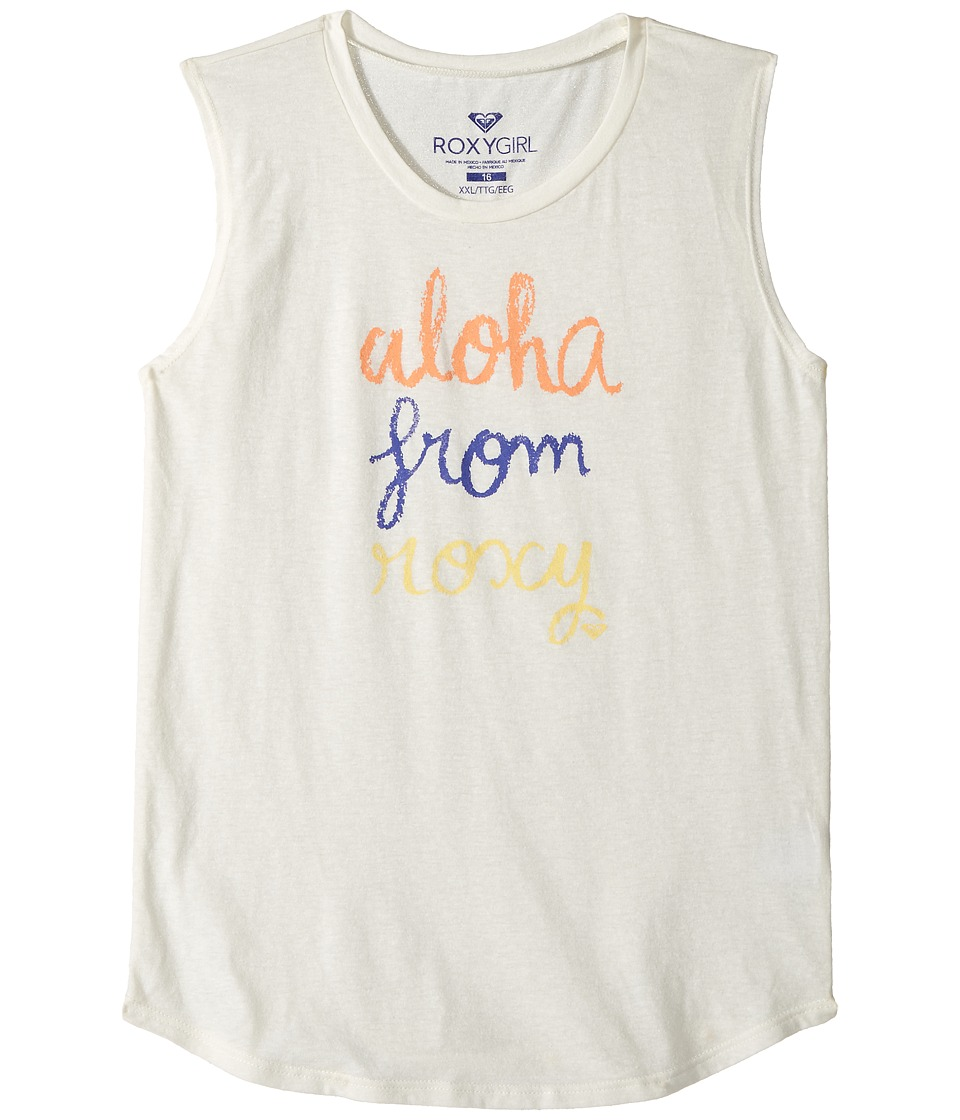 Roxy Kids - Aloha From Roxy Muscle Tee (Big Kids) (Sea Spray) Girl's Sleeveless