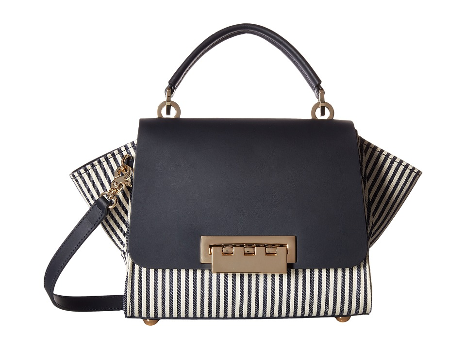 ZAC Zac Posen - Eartha Iconic Mini Top-Handle Striped (Navy) Top-handle Handbags