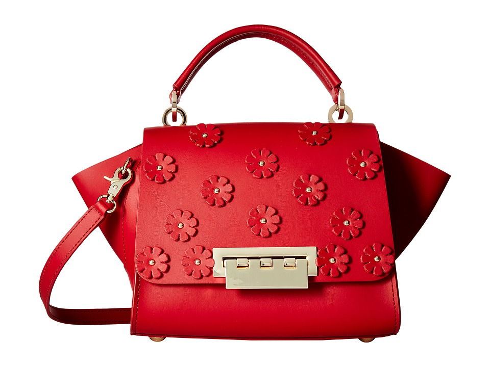 ZAC Zac Posen - Eartha Iconic Mini Top-Handle w/ Floral Applique (Red) Top-handle Handbags