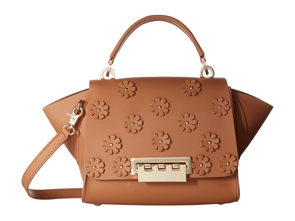 ZAC Zac Posen - Eartha Iconic Mini Top-Handle w/ Floral Applique (Ginger) Top-handle Handbags