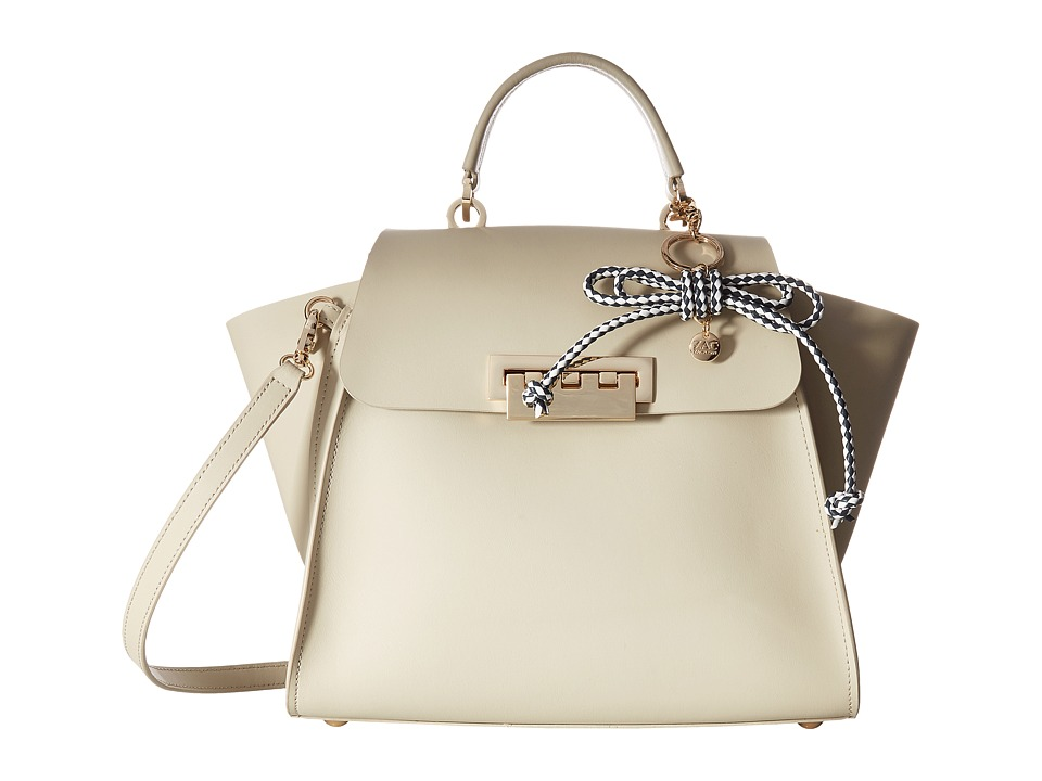 ZAC Zac Posen - Eartha Iconic Top-Handle Solid w/ Charm (Almond) Top-handle Handbags