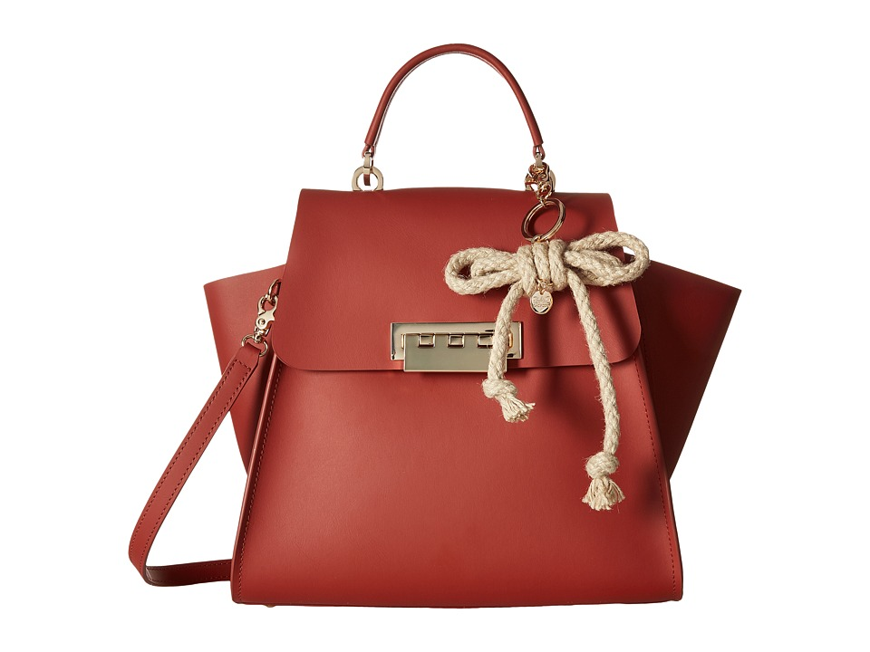ZAC Zac Posen - Eartha Iconic Top-Handle Solid w/ Charm (Spice) Top-handle Handbags