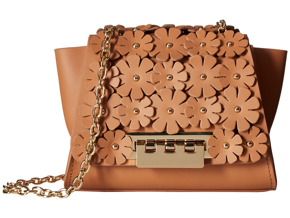 ZAC Zac Posen - Eartha Iconic Chain Crossbody w/ Floral Applique (Ginger) Cross Body Handbags