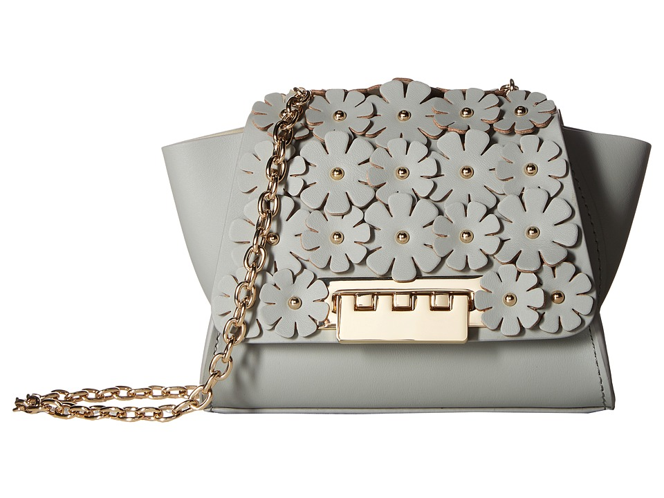 ZAC Zac Posen - Eartha Iconic Chain Crossbody w/ Floral Applique (Cloud) Cross Body Handbags