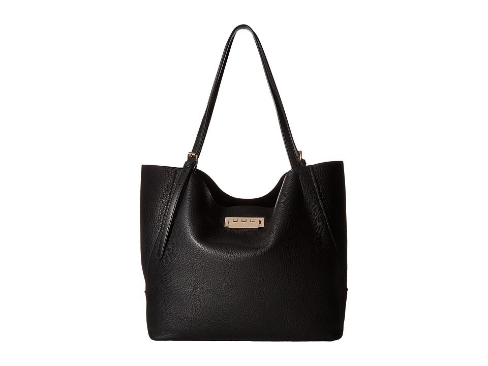 ZAC Zac Posen - Eartha Relaxed Shopper Pebble (Black) Tote Handbags