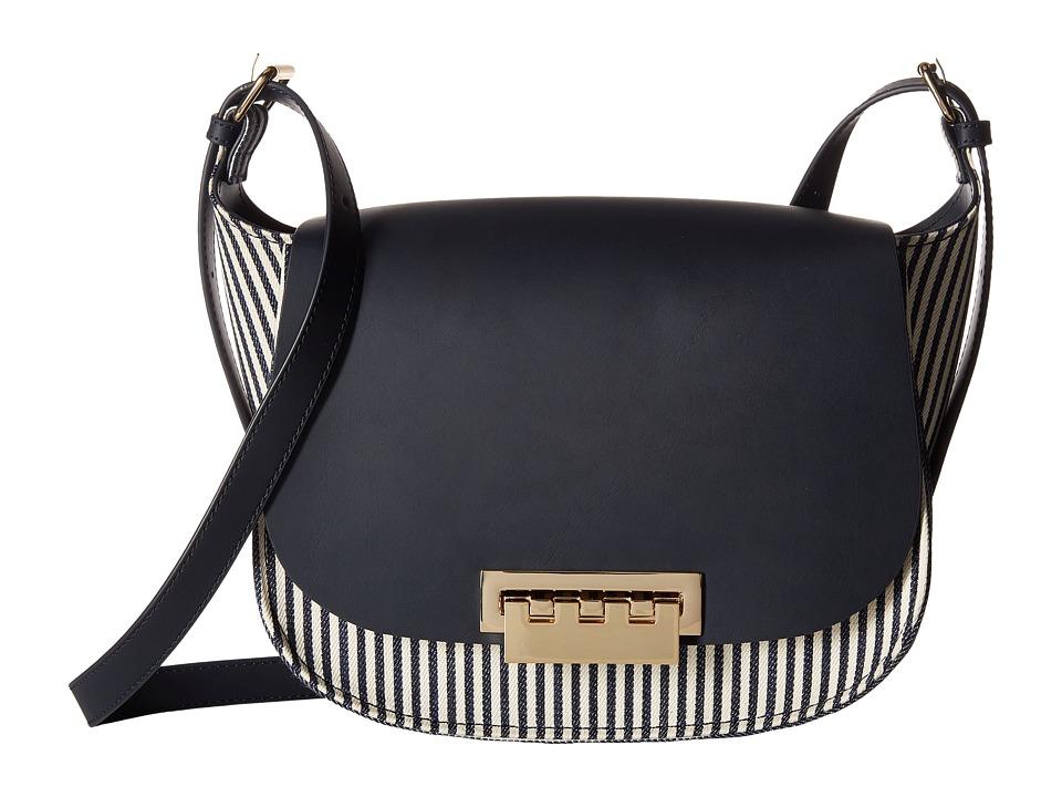 ZAC Zac Posen - Eartha Iconic Saddle Striped (Navy) Handbags
