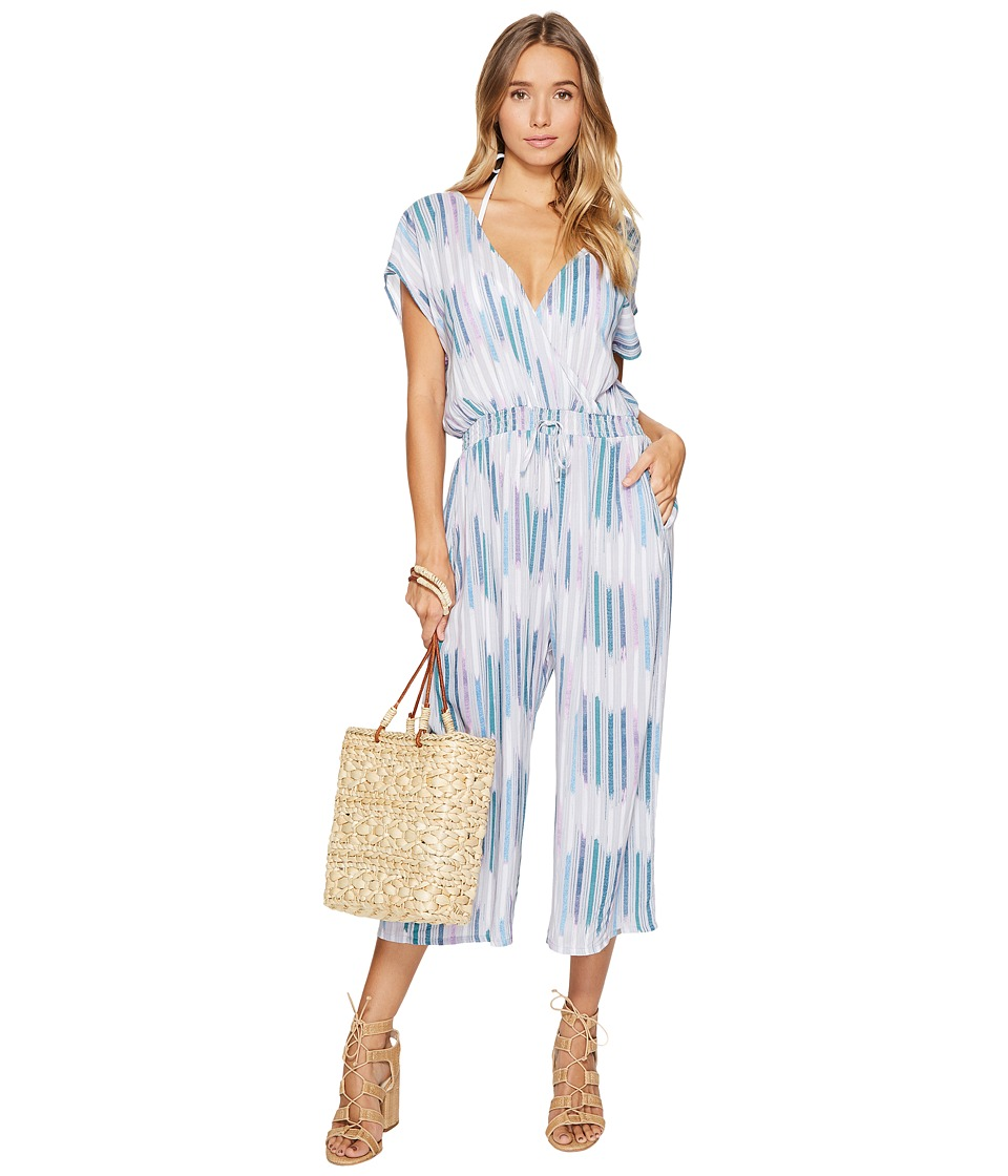 Dolce Vita - Baja Breeze Wrap Jumpsuit Cover-Up (Cement Multi) Women's Jumpsuit & Rompers One Piece