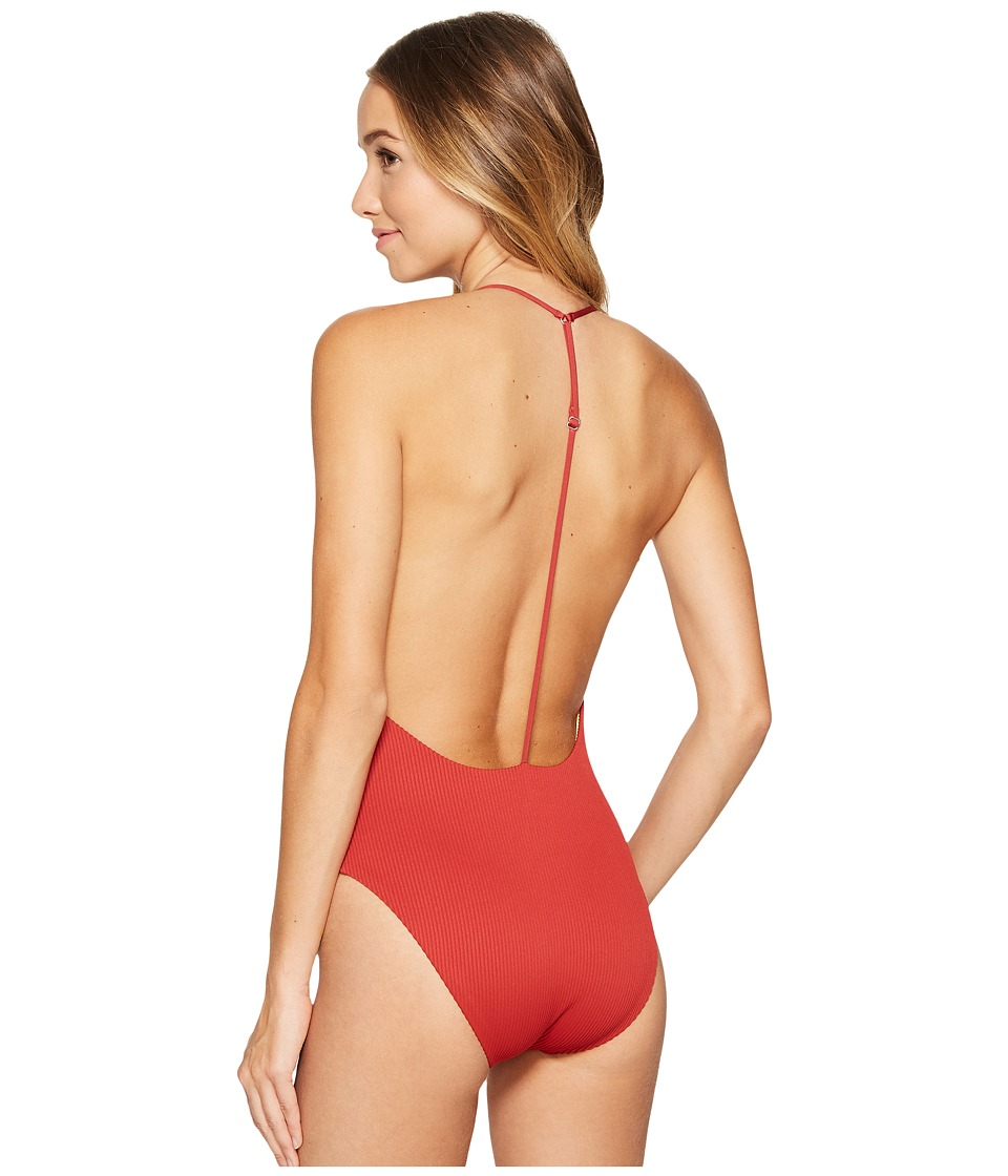Dolce Vita - Stick To Your Ribs T-Back One-Piece (Varsity) Women's Swimsuits One Piece