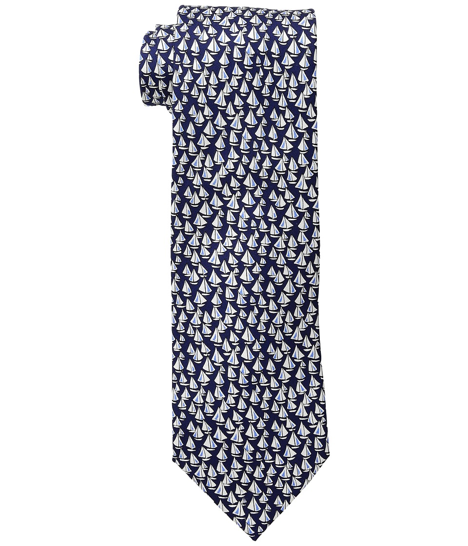 Tommy Hilfiger - Sailboat Print (Navy) Ties