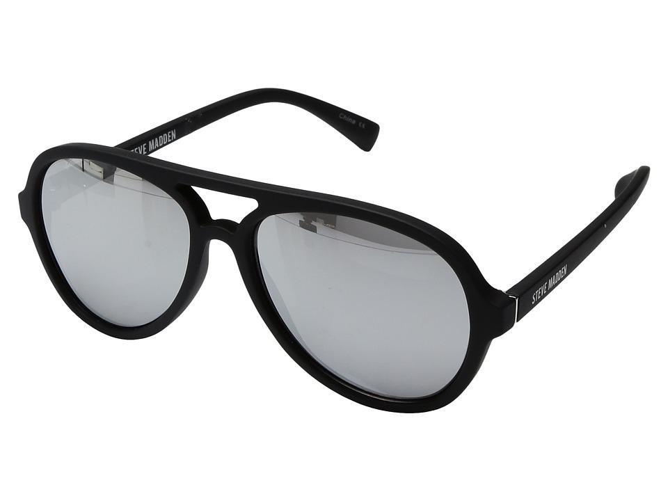 Steve Madden - Zack (Black/Silver) Fashion Sunglasses