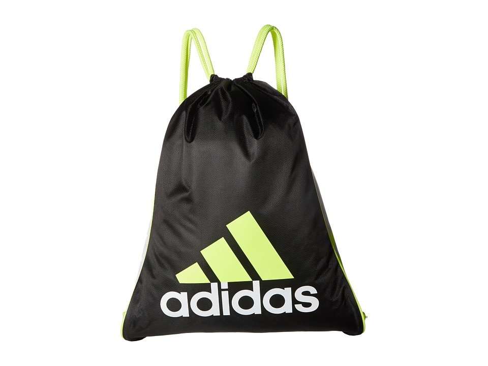 adidas - Burst Sackpack (Black/White/Solar Yellow) Bags