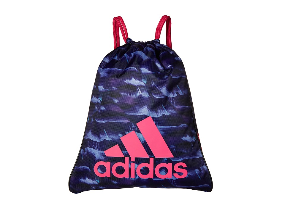 adidas - Burst Sackpack (Cosmic Collegiate Purple/Shock Pink) Bags
