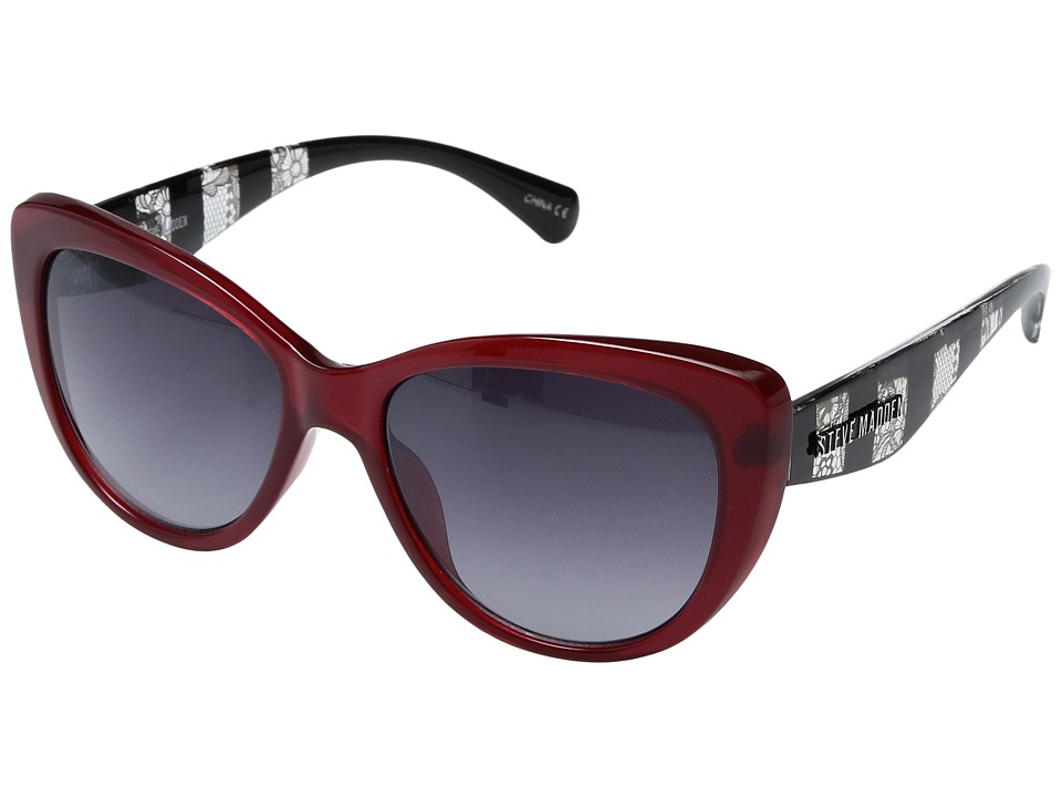 Steve Madden - Lola (Burgundy) Fashion Sunglasses