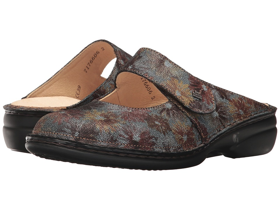 Finn Comfort - Stanford (Marron Fleur) Women's Clog/Mule Shoes