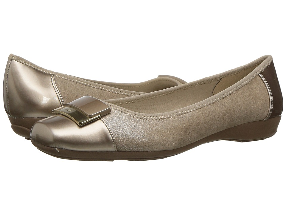 Anne Klein - Una (Light Gold Multi Fabric) Women's Shoes