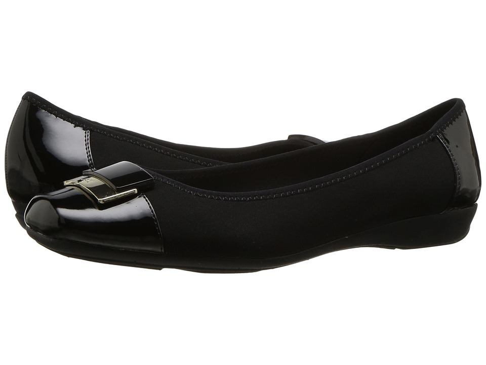 Anne Klein - Una (Black Multi Fabric) Women's Shoes