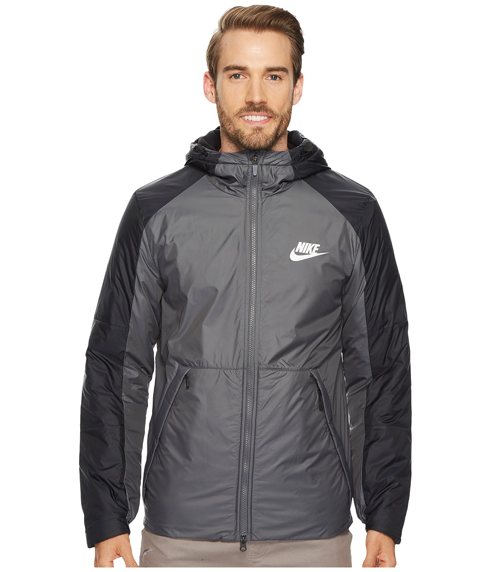 Nike Synthetic Fill Fleece Jacket (Dark Grey/Black/White) Men