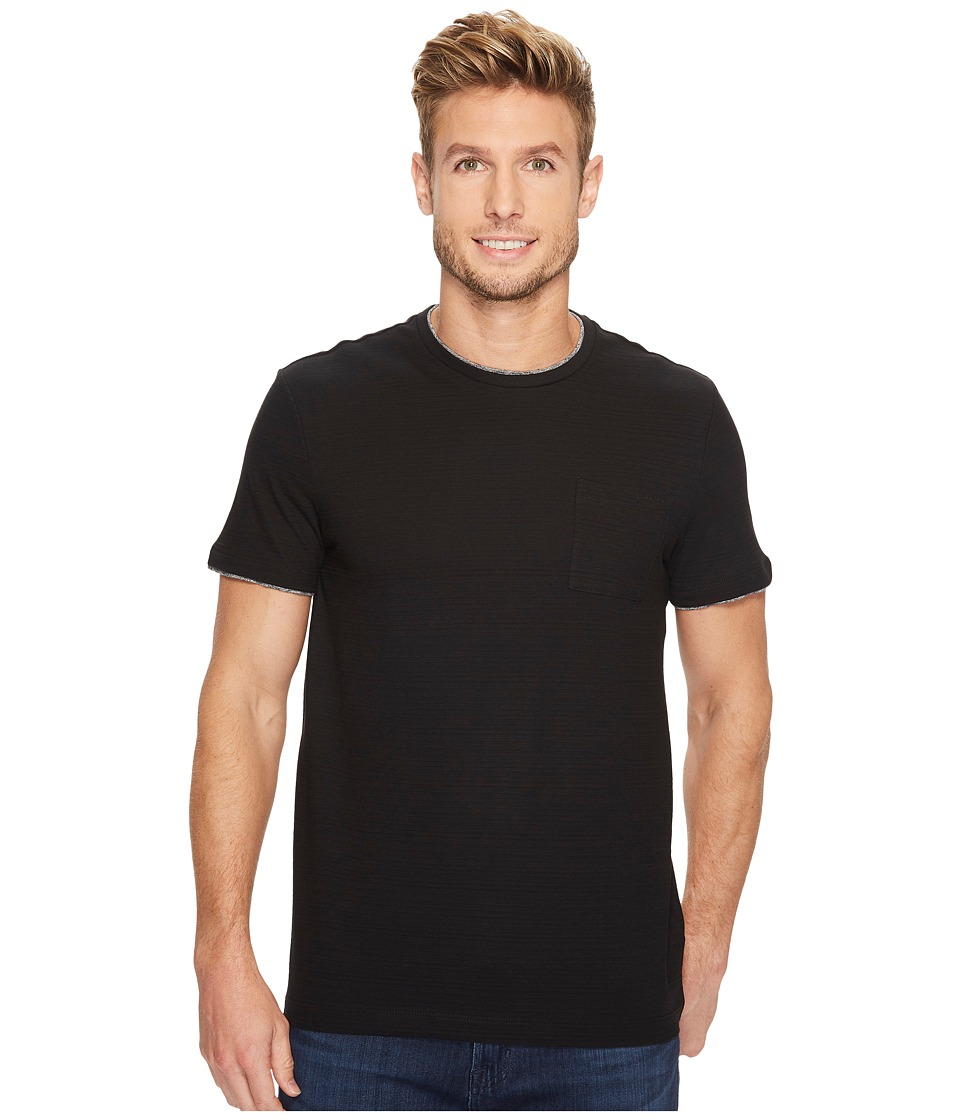 Calvin Klein - Faux Double Layer Crew Neck T-Shirt (Black) Men's T Shirt