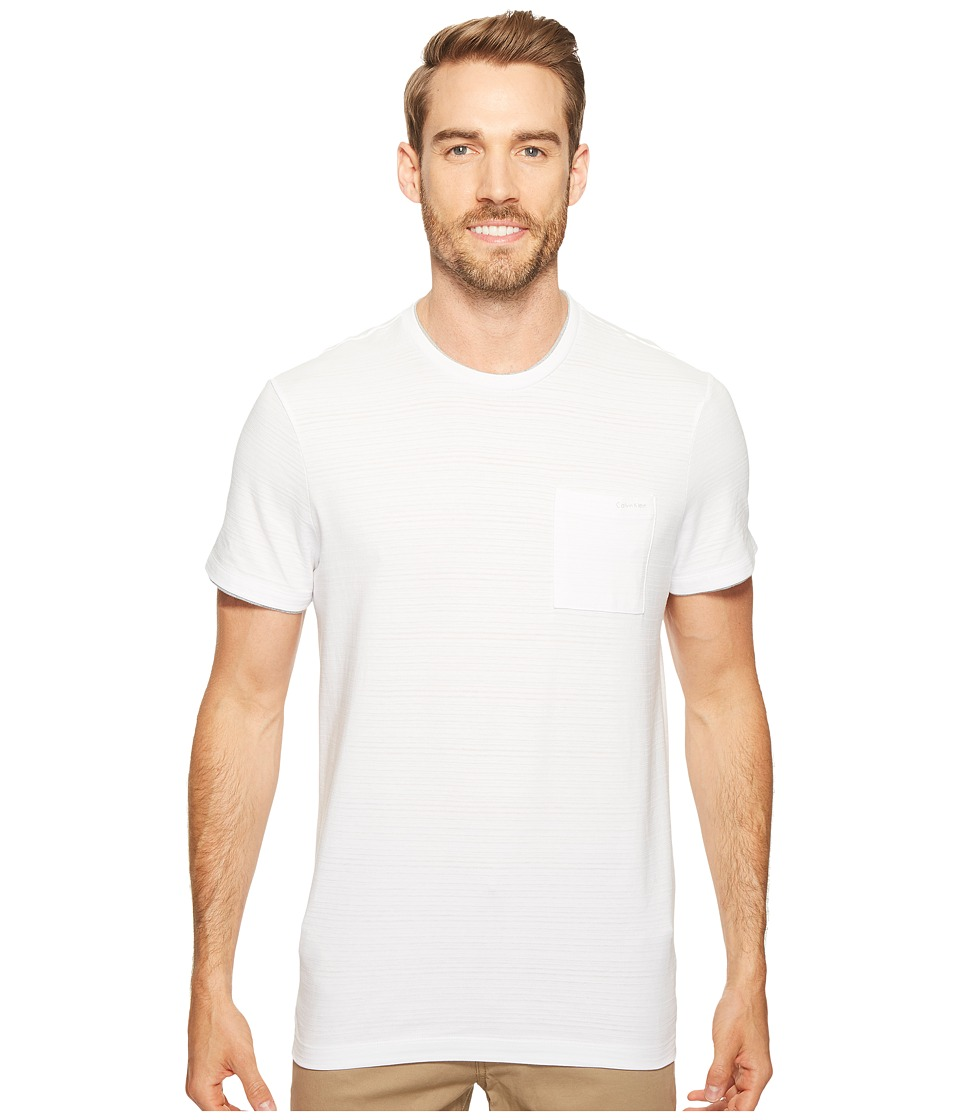 Calvin Klein - Faux Double Layer Crew Neck T-Shirt (White Wash) Men's T Shirt