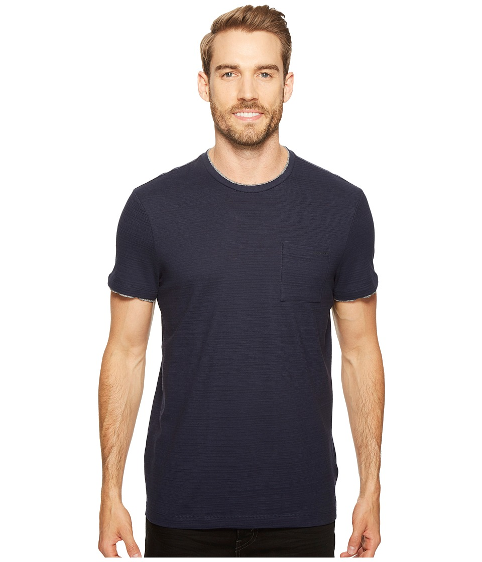 Calvin Klein - Faux Double Layer Crew Neck T-Shirt (Cadet Navy) Men's T Shirt