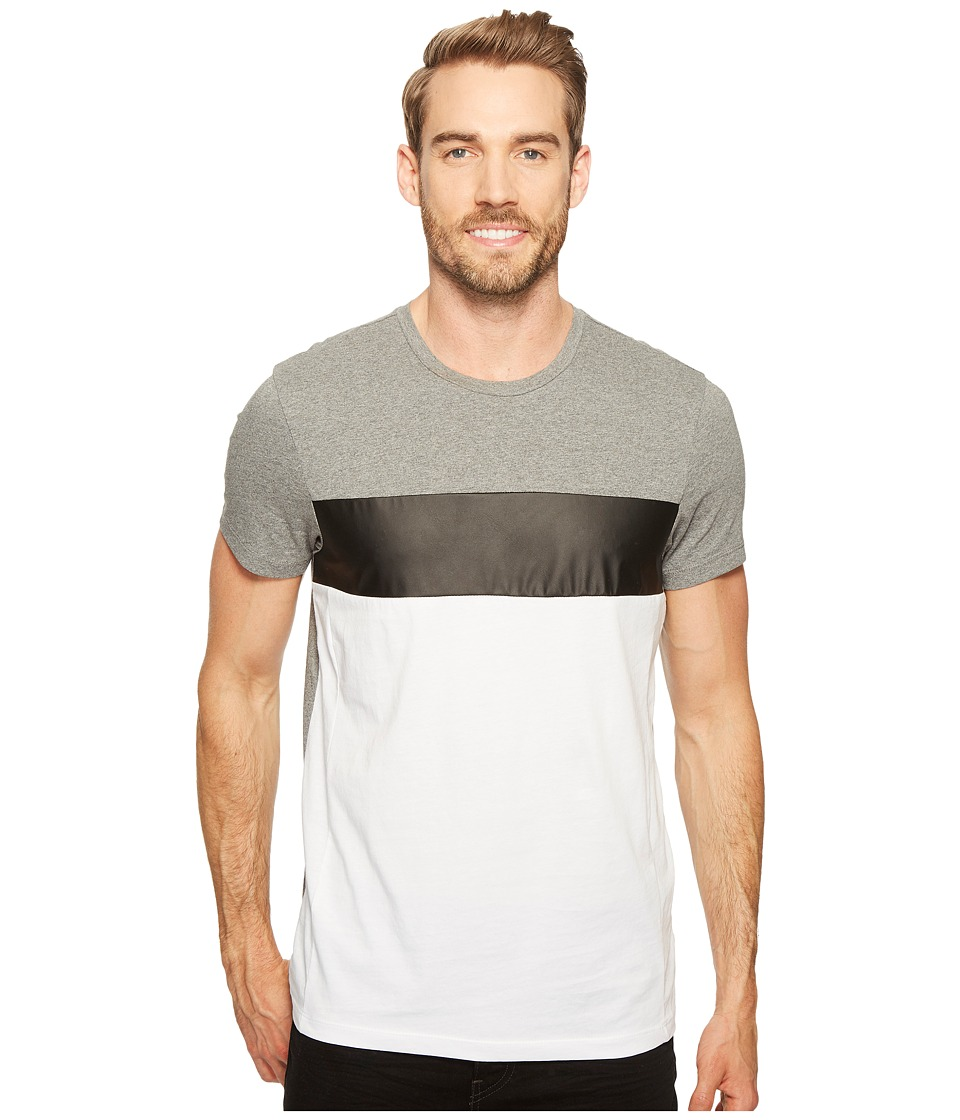 Calvin Klein - Tricolor Blocked T-Shirt (Medium Grey Combo) Men's T Shirt