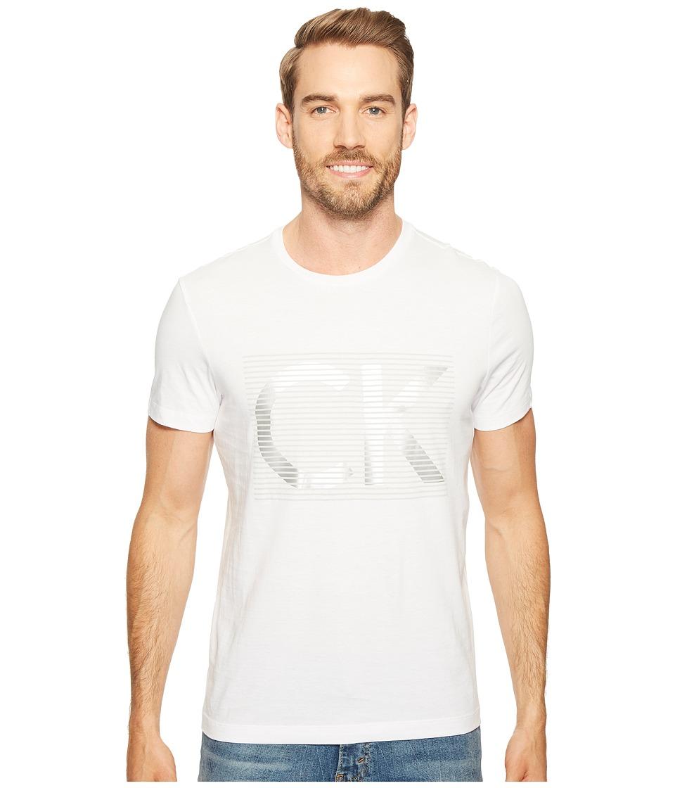 Calvin Klein - Illusion CK Logo Crew Neck T-Shirt (White Out) Men's T Shirt