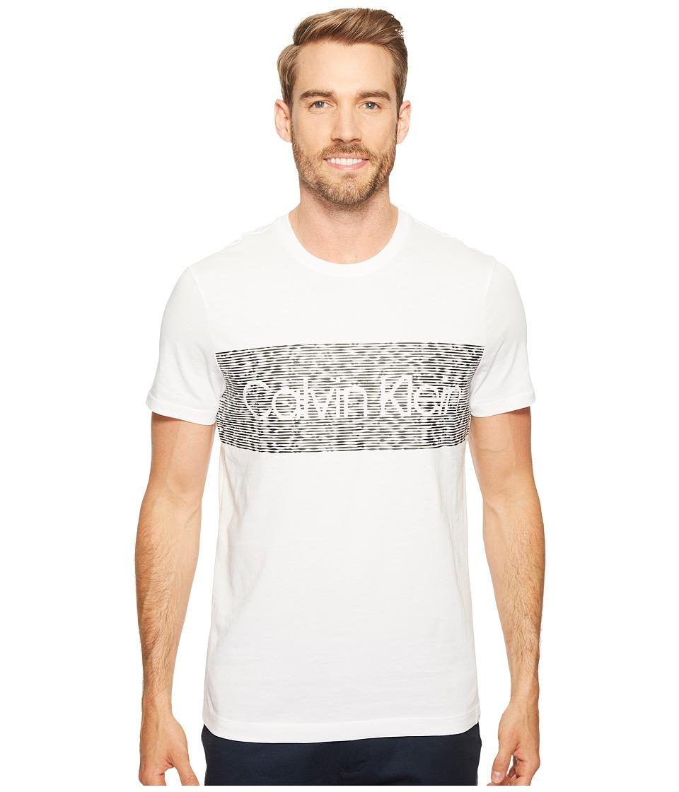 Calvin Klein - Dash Logo Crew Neck T-Shirt (White Wash) Men's T Shirt