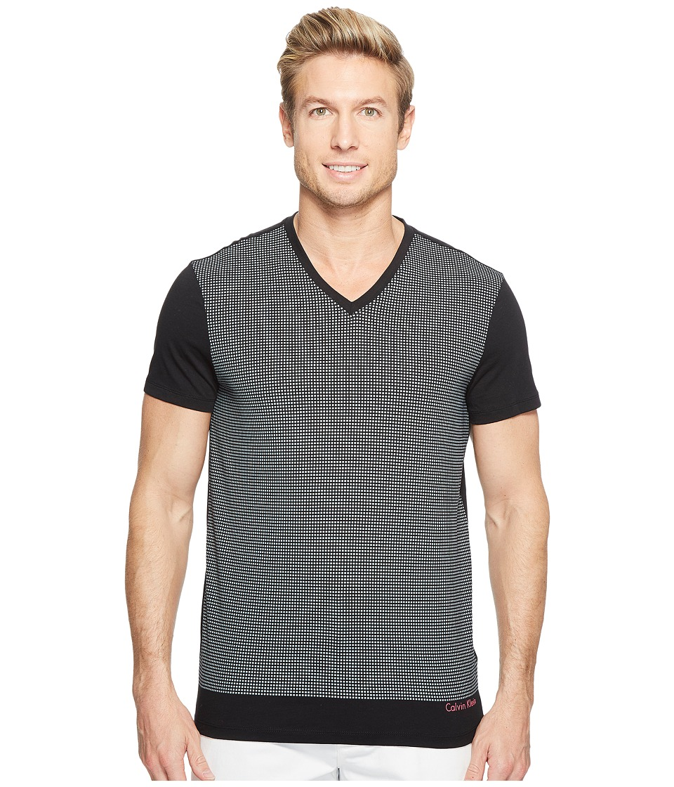 Calvin Klein - Solid Dot Print Graphic T-Shirt (Black) Men's T Shirt