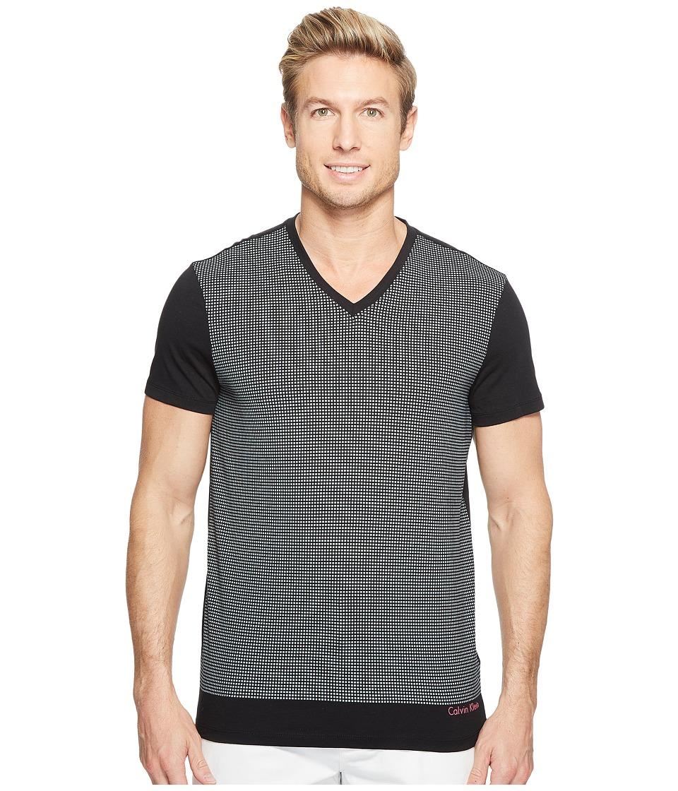 Calvin Klein - Solid Dot Print Graphic T-Shirt (Black) Men's T Shirt