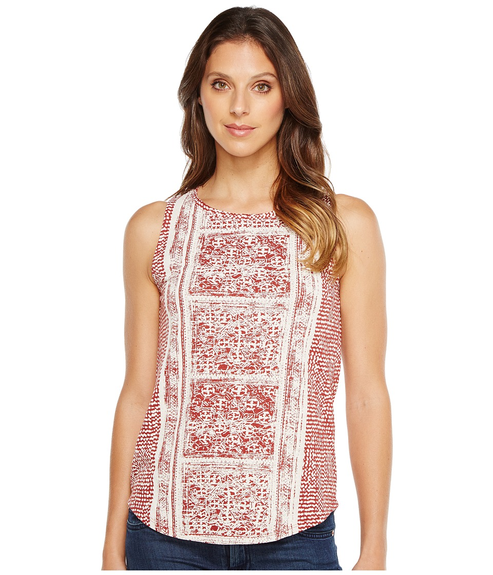 Lucky Brand - Spiced Red Printed Tank Top (Rust Multi) Women's Sleeveless