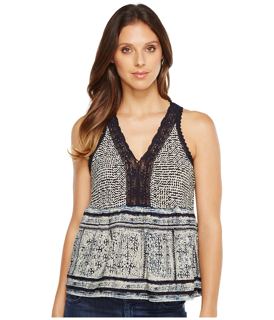 Lucky Brand - Border Tank Top (Navy Multi) Women's Sleeveless