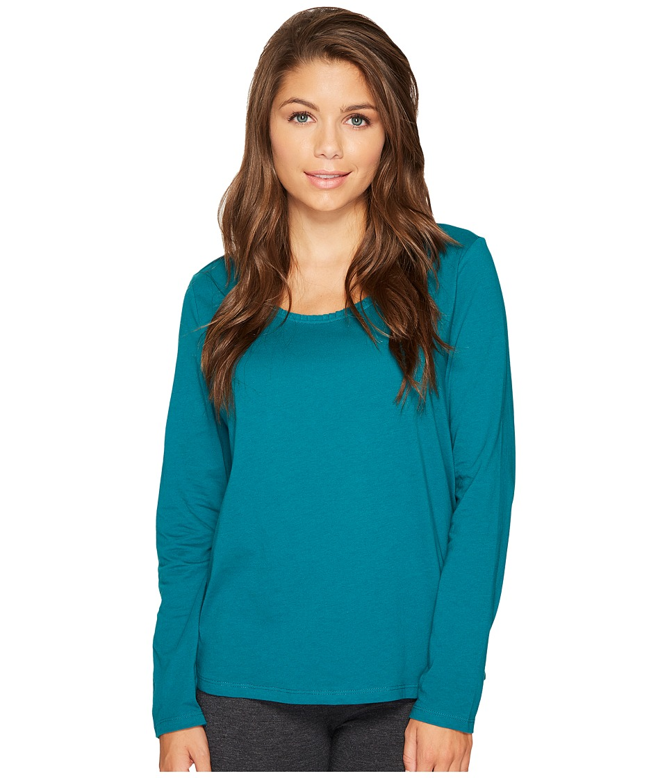 Jockey - Cotton Jersey Long Sleeve Top (Spruce) Women's Pajama