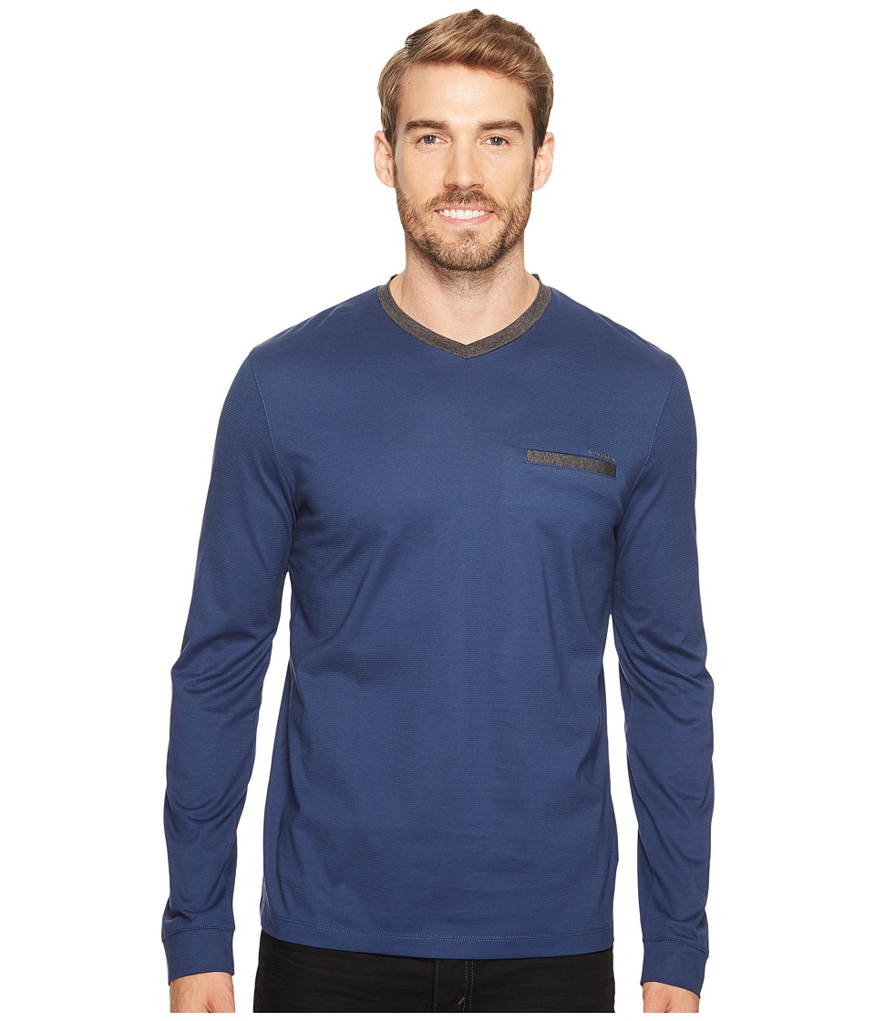 Calvin Klein - Textured Jersey Contrast Welt Pocket Shirt (Luxe) Men's Clothing