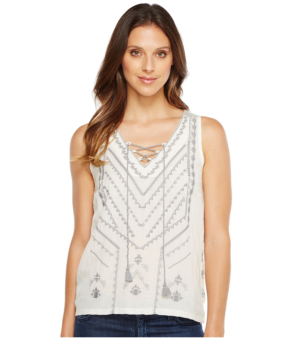 Lucky Brand - Embroidered Sweater Tank Top (Grey Multi) Women's Clothing