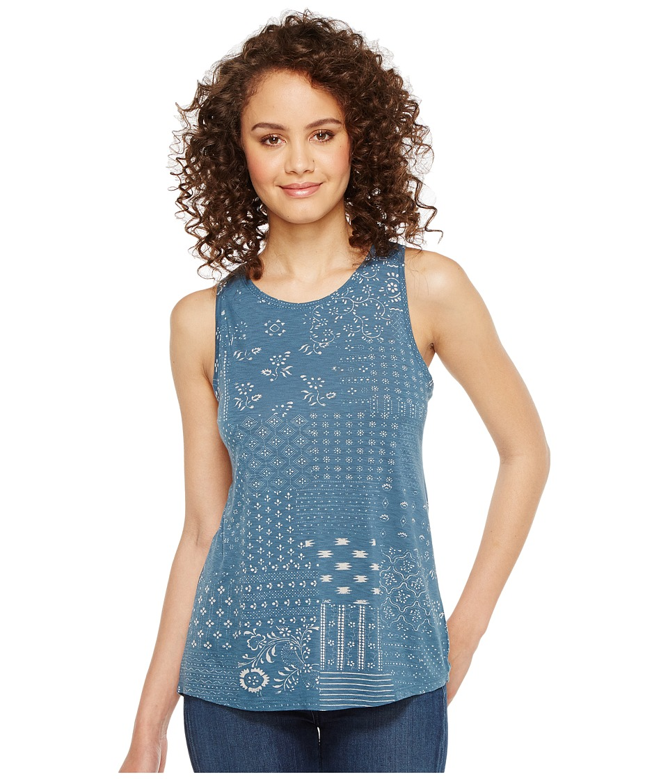 Lucky Brand - Boro Patchwork Tank Top (Blue Multi) Women's Sleeveless